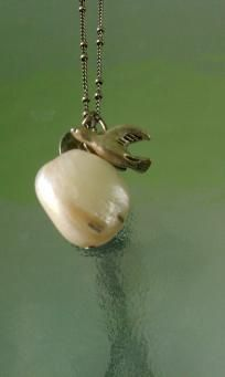 Pearl bird necklace FREE SHIPPING $9.00