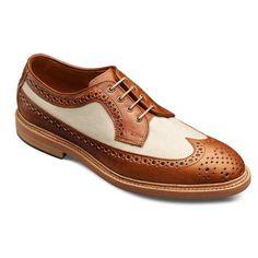 The Best Men's Shoes And Footwear : Special Edition WebGem – Tan/Khaki Kasmuk – Wingtip Lace-up Oxford Men's Casual Dress Shoes by Allen Edmonds - #Men'sshoes