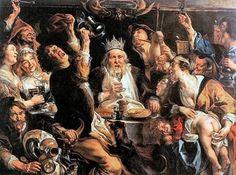 Jacob Jordaens, The King Drinks (Musées Royaux des Beaux-Arts, Brussels) Jacob Jordaens, Lawrence Alma Tadema, Web Gallery Of Art, Arte Online, Italian Paintings, Last Knights, Dutch Golden Age, Peter Paul Rubens, T Art