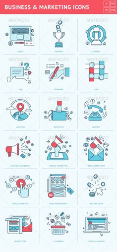 Flat #Line_Icons for Business and Marketing | Buy and Download: http://graphicriver.net/item/flat-line-icons-for-business-and-marketing/8408353?WT.ac=category_thumb&WT.z_author=PureSolution&ref=ksioks