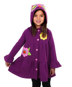 Purple Owl Jacket - Toddler & Girls