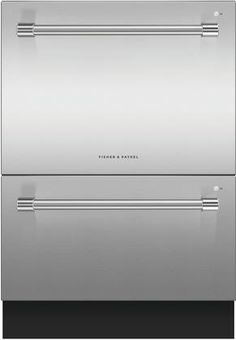 Fisher Paykel 24 Inch Energy Star Rated Professional Series Double DishDrawer with 14 Place Settings, Child Lock, and End of Cycle Beeps, in Stainless Steel Fisher Paykel Dishwasher, Drawer Dishwasher, Peter Rabbit Organics, Fully Integrated Dishwasher, Stainless Steel Appliances, Energy Star, Top Freezer Refrigerator, Place Settings, Chrome Plating