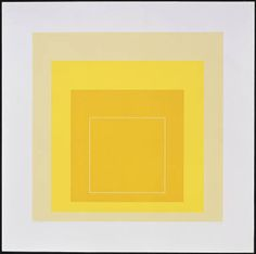 "Josef Albers    White Line Square XVII, 1966   3-color lithograph  21"" x 21"" (53.3 x 53.3 cm)     edition of 125"