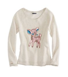AE Cute Animal Sweatshirt. The one with the deer (not the penguin), size small