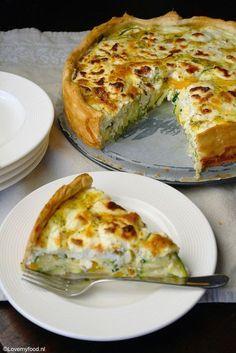 Lente quiche met geitenkaas en courgette - Lovemyfood.nl