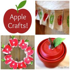 The Crafty Crow apple crafts for Pinterest - 10 Favorite Apple Crafts - Things to Make and Do, Crafts and Activities for Kids