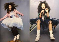 吉川ひなの Pretty Makeup, Pretty Hairstyles, 90s Fashion, Pretty Outfits, Ballet Skirt, Punk, Photoshoot, People, Folk