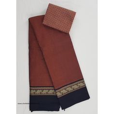 Handwoven Narayanpet pure cotton thread border saree with running blouse and additional mangalagiri blouse added as complementary. Cotton Thread, Cotton Saree, Sarees, Hand Weaving, Blouses, Pure Products, Boutique, Fabric, Color