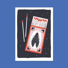 Blue bottle matches designed to be a 3 colour screen print. Fine Art Prints, Canvas Prints, Blue Bottle, Cool Drawings, Printing Process, Screen Printing, Cool Stuff, Illustration, Artist