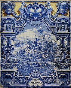 Painel de azulejos portugueses