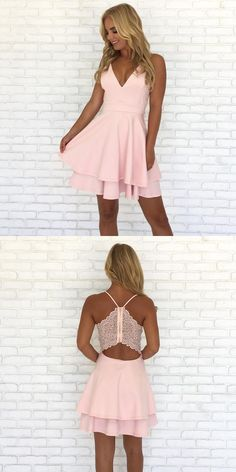 2017 homecoming dresses, short homecoming dresses, pink homecoming dresses, dancing dresses