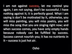 About being successful
