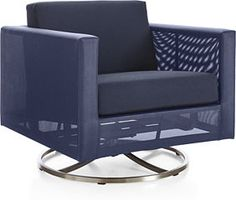 Bring the indoors out with modern patio furniture from Crate and Barrel. Browse the Dune Navy collection for dining tables, chairs and more. Order online.