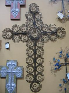 """Cross to put pics on , Christmas cards or just cool by itself.  Love this.  Made by """"Two Girls Who Make Crosses."""""""