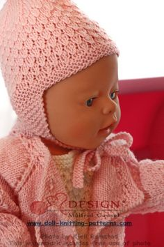 Knit gorgeous doll clothes in pink and white Knitting Dolls Clothes, Knitted Dolls, Doll Clothes, All American Girl, Yarn Stash, Baby Born, Free Pattern, Knitting Patterns, Crochet Hats