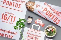 Brand identity, print and packaging for Stockholm lunch restaurant Tidningshuset by Pontus by Bold, Sweden