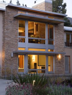Stone exterior yet with modern look