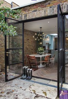 44 New Ideas For Apartment Therapy Patio House Tours House Design, French Doors, House Extensions, House Exterior, Summer House, Crittal Doors, House Inspiration, House Tours, Renovations