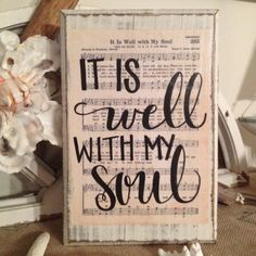 It is Well with my Soul Hymn Board by ImperfectDust on Etsy