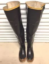 6399c3d4fc7 Rare Vintage Kaufman Black Diamond Rubber Hip Waders Boots US12 UK11 ...