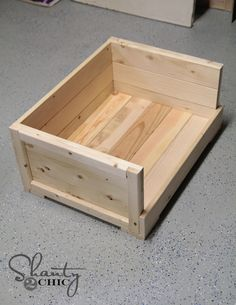 Wood Dog Bed Or nesting box. Using 2x4 for floor and furring strips 1x4 and 1x2 with glue and nail gun. Could add a second story and have bunk beds