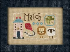 March & April INCLUDES charms Yearbook Double Flip Series cross stitch pattern May January Lizzie Kate Easter St. Patrick's Day Irish by thecottageneedle