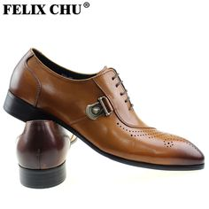 wedding design Picture - More Detailed Picture about FELIX CHU Italian  Designer Black Brown Brogue Shoes Genuine Leather Lace Up Men Formal Dress  Oxfords ... 8bdcb2e6e4c3