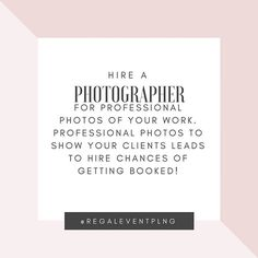 I myself was guilty of this when I first got started. However, as I got more seasoned I learned that professional photos translate to sales. #photographers are looking for portfolio building opportunities. In your client fees include $100 for a photographer to come and take pictures solely of your work. Then when new clients want to see your work you'll have a professional portfolio. @lunarslensphotography  is Regal's go to photographer! Check out her page today! #wedding #bridetobe…