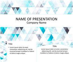 블루 삼각형 패턴 파워 포인트 템플릿