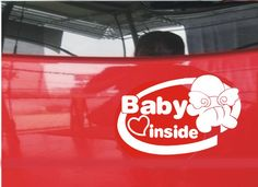 2pcs/lot Baby in Car/baby inside sitckers and decals reflective personalized style Warnning  car accessories free shipping $6.98