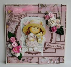 Prima Marketing, Decoupage, Pink, Teddy Bear, Frame, Cards, Animals, Decor, Picture Frame