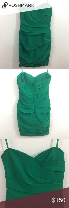 BCBGMAXAZRIA Green Dress 2 Bandage Cocktail Formal Please let me know if you have any questions! BCBGMaxAzria Dresses Mini