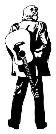 Style & Apply - Johnny Cash - wall decal, sticker, mural vinyl art home decor
