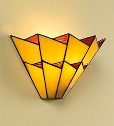Stained Glass Wall Sconce