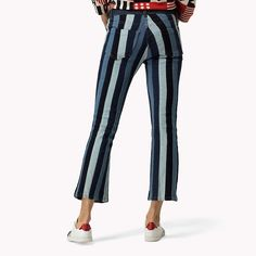 Tommy Hilfiger Flared Striped Jeans - washed denim/multi (Blue) - Tommy Hilfiger Bootcut Jeans & Flares - detail image 6