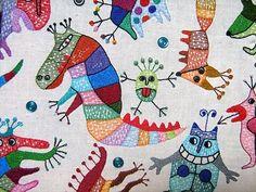 Textile work (85x95sm.) Styky bryky.