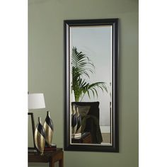 Wildon Home ® Waitsburg Mirror in Black and Silver $160