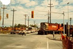 Holland & Scott Streets - Mid 70's Ottawa Valley, Canadian Pacific Railway, Train Car, Holland, Trains, Past, Canada, Urban, History