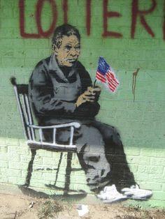 Rocker in New Orleans - Banksy