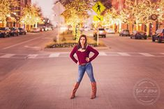 Maddie Snowden - Christmas Lights - Senior Portraits - Winter - Frisco Square - Class of 2016 - Stunning - Senior Pictures - Heritage High School - Tyler R. Brown Photography