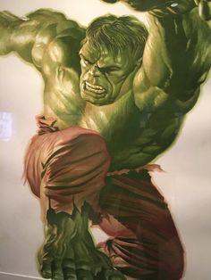 Alex Ross (1970) Ilustrador y dibujante de historietas estadounidense.- Hulk