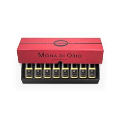Mona di Orio Discovery Gift Box (The Set Comprises Eight 5ml Fragrance Roll-ons in the Signature Red Presentation Box) by Mona di Orio. $145.00. 5 ML EACH. 8 FRAGRANCES (ROLL-ONS). Now you can enjoy all eight fragrances in the Les Nombres d'Or Collection with the Mona di Orio Discovery Box. The set comprises eight 5ml roll-ons in the signature black and red Mona di Orio presentation box. Ambre, Cuir, Musc, Oud, Rose Etoile de Hollande, Tubereuse, Vanille, Vetyver.