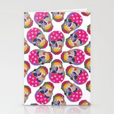 skull Stationery Cards by elvia montemayor - $12.00