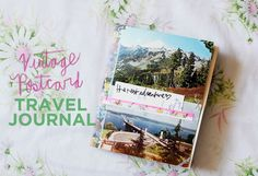 Vintage Postcard Travel Journal DIY (A Beautiful Mess)