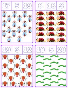 Teach counting skills with these Spring Bugs clip cards! Great for teaching counting skills and number recognition for numbers Quick prep game great for math centers! Teach English To Kids, English Worksheets For Kids, 3rd Grade Math Worksheets, Preschool Worksheets, Chore Chart Kids, Autism Activities, Free Preschool, Math For Kids, Kindergarten Math