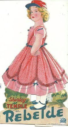 Cine: (PG-170428)Rebelde - Pelicula de 1935 interpretada por Shirley Temple - Programa troquelado - Foto 2 - 84848556