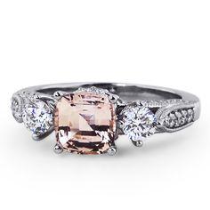Three Stone Heirloom Sapphire Ring//