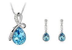 New Fashion Water Drop Silver Plated Necklace Earring Jewelry Sets Crystal Diamond Water Drop Pendant Gift Unbranded http://www.amazon.com/dp/B01DI2F24K/ref=cm_sw_r_pi_dp_gNu.wb02YCNMW