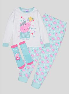 Buy Peppa Pig Fairy Multicoloured Long-Sleeved Pyjamas With Matc at Argos. Thousands of products for same day delivery or fast store collection. Girls Pjs, Argos, Peppa Pig, Pyjamas, Nightwear, Little Girls, Slippers, Fairy, Christmas