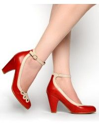 1940s Jitterbug Pump in Red